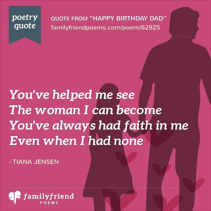 Poems For Father's Day From Sons And Daughters