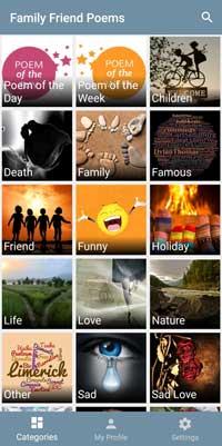 Family Friend Poems Mobile App