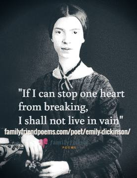 a biography of emily dickinson and an analysis of the themes of some of her poems At the time of her birth, emily's father was an ambitious young lawyer   dickinson found the conventional religious wisdom the least compelling part of  these.