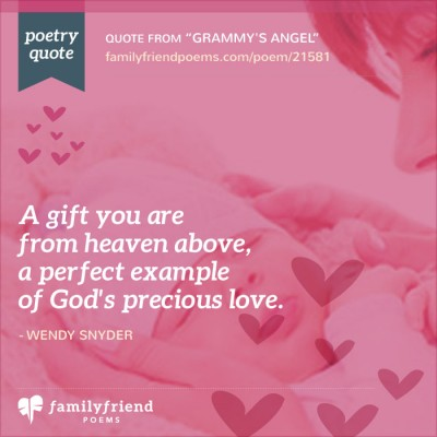 A Gift For Grandma Grammy S Angel Baby Poem