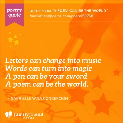 A Poem Can Be The World