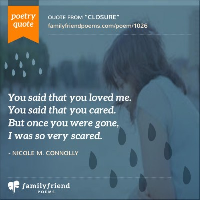 Poem About Accepting Father Leaving, Closure