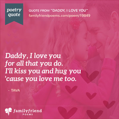 Short Father's Day Poem, Daddy, I Love You