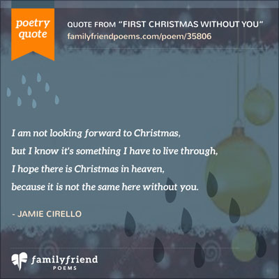 Poem About Missing Dad On Christmas, First Christmas Without You