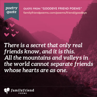 Goodbye Poems For Friends - Poems Saying Goodbye to Friends