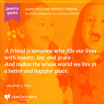 Greeting Card Friendship Poem, The Perfect Friend