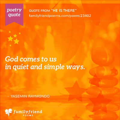 Poem About Where God Is Found, He Is There