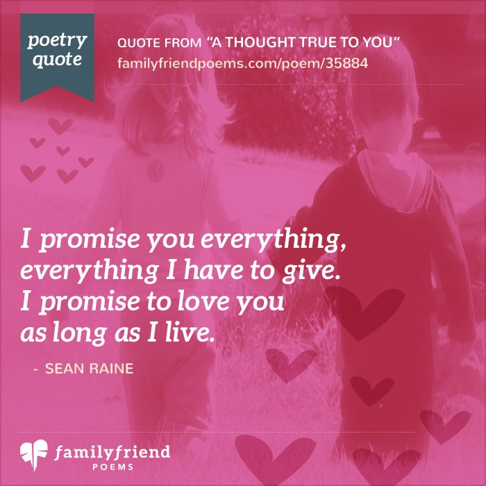 promise love poems