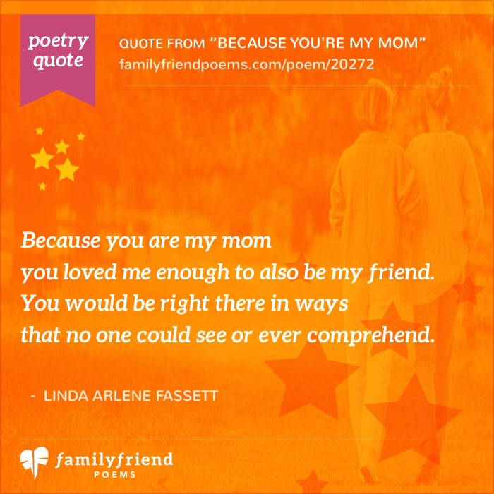 Poem About Mom And Daughter, Because You're My Mom