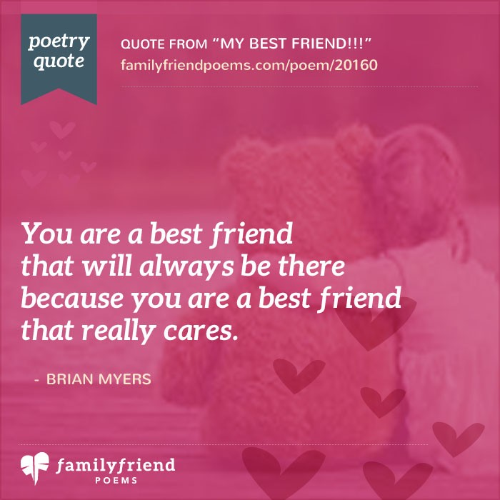 Poem For Saying Thanks To A Great Friend, My Best Friend
