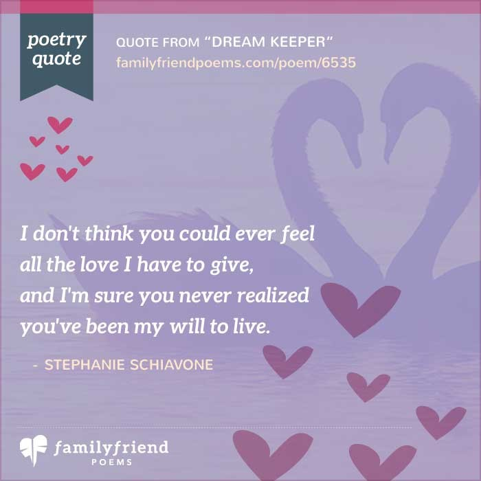 Short Sweet I Love You Quotes: Dream Keeper, Sweet Love Poem