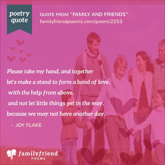 Family and friends Poems  poemsearchercom