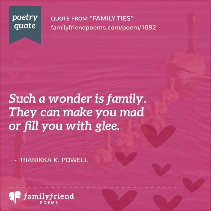 Family Ties, Hard Times Poem