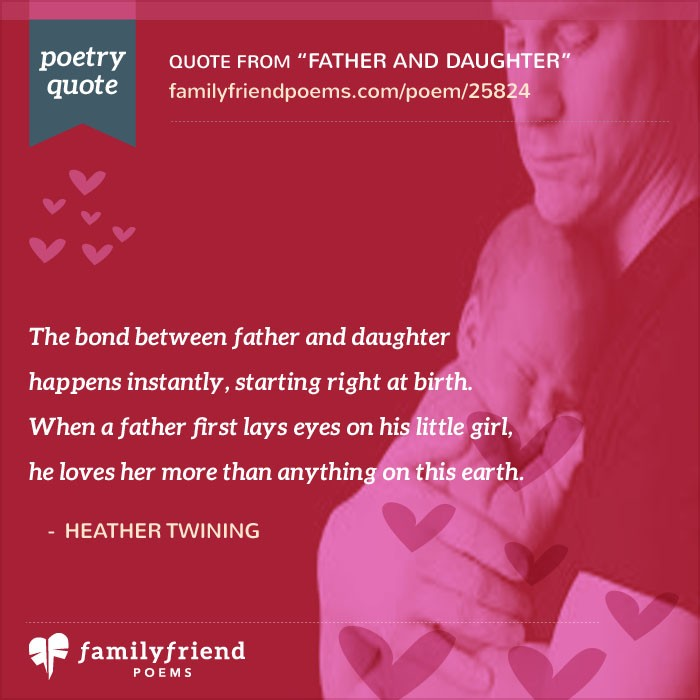 Father And Daughter, Father Child Poem
