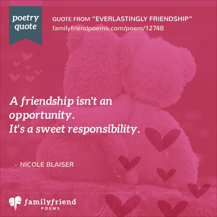 an analysis of friendship poem A large community and archive of romantic love poems, inspirational poems, friendship poems, love quotes and more.