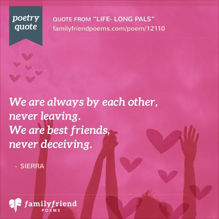 Life- Long Pals, Life Long Friend Poem