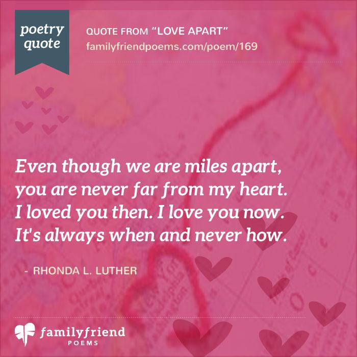 Love Apart, Long Distance Love Poem