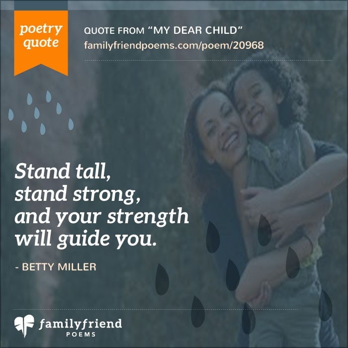 Wr Part My Son Quotes: My Dear Child, Children Poem