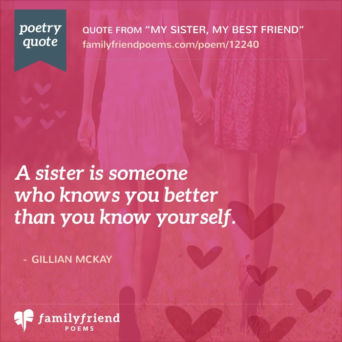 My Sister My Best Friend Sister Poem