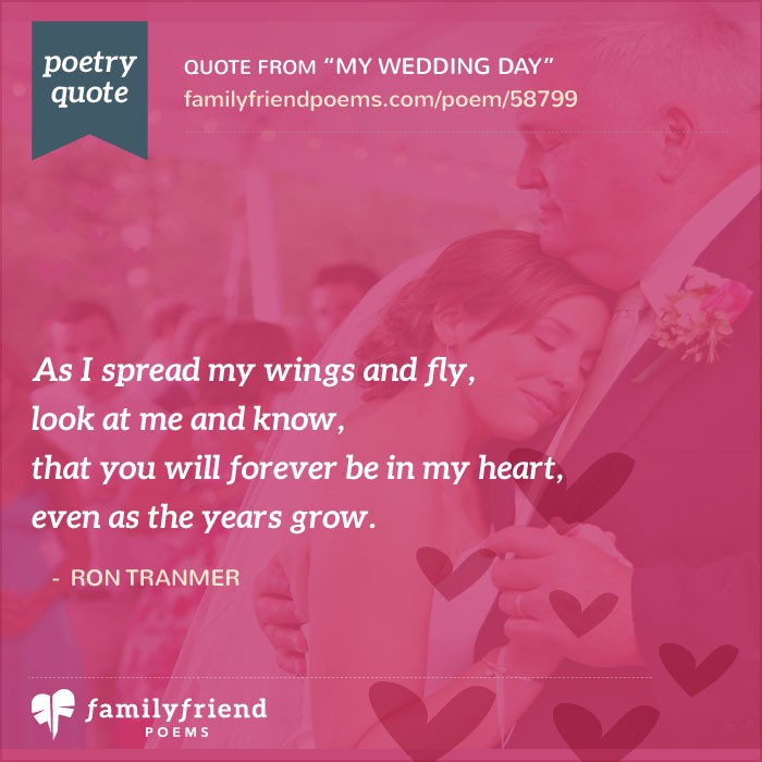 One Month Before Wedding Quotes: Poem From Bride To Father, My Wedding Day