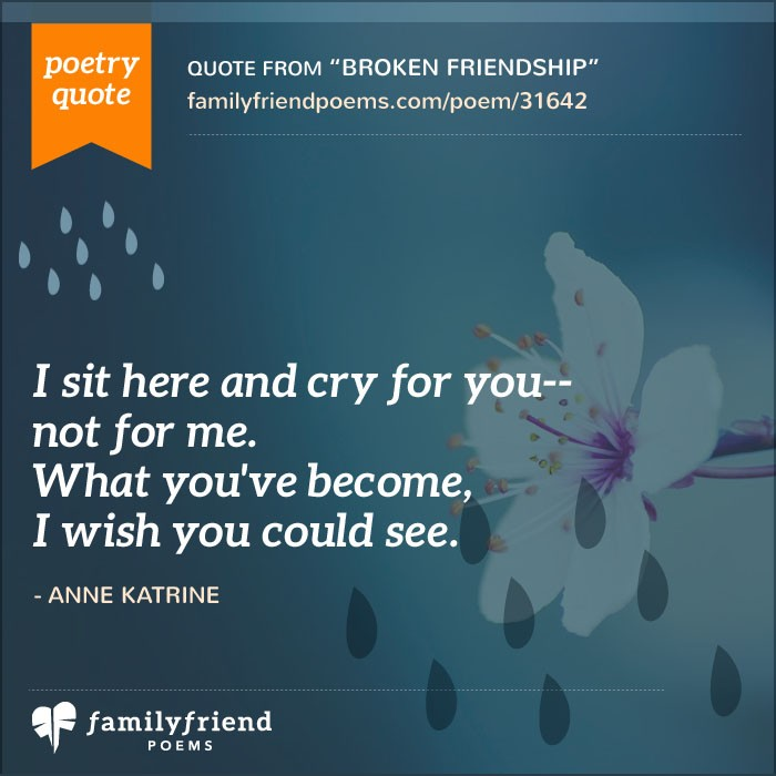 60 Lost Friend Poems Poems About Losing A Friend Adorable Quotation About Sad Friendship