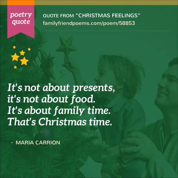 Short Religious Quotes About Family: Poem About Christmas With Family, Christmas Feelings