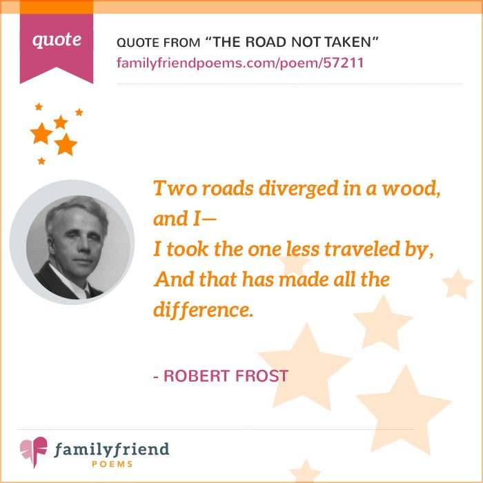 The Road Not Taken By Robert Frost, Famous Inspirational Poem
