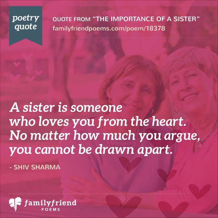 poems concerning a sisters
