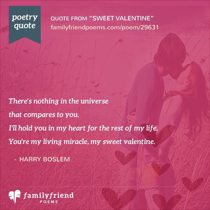 Sweet valentine romantic valentine 39 s day poem for Sweet valentine day quotes for her