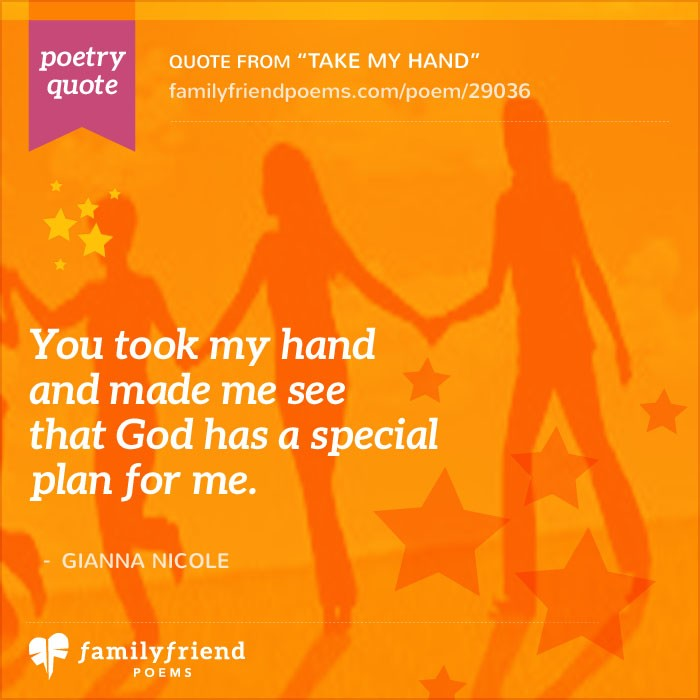 Take My Hand And Never Let Go Friends Forever Poem