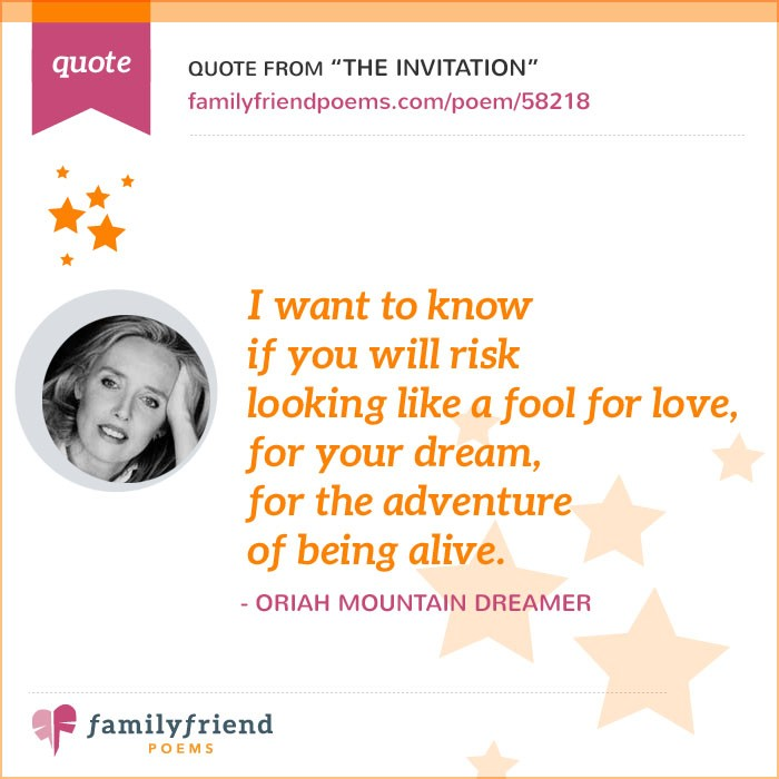 The Invitation By Oriah Mountain Dreamer Famous Inspirational Poem