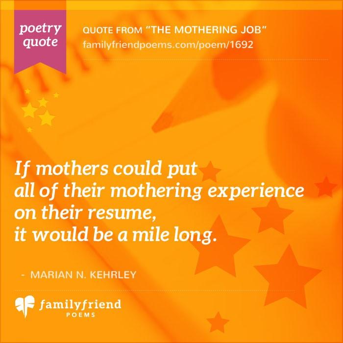 The Mothering Job Mother Poem