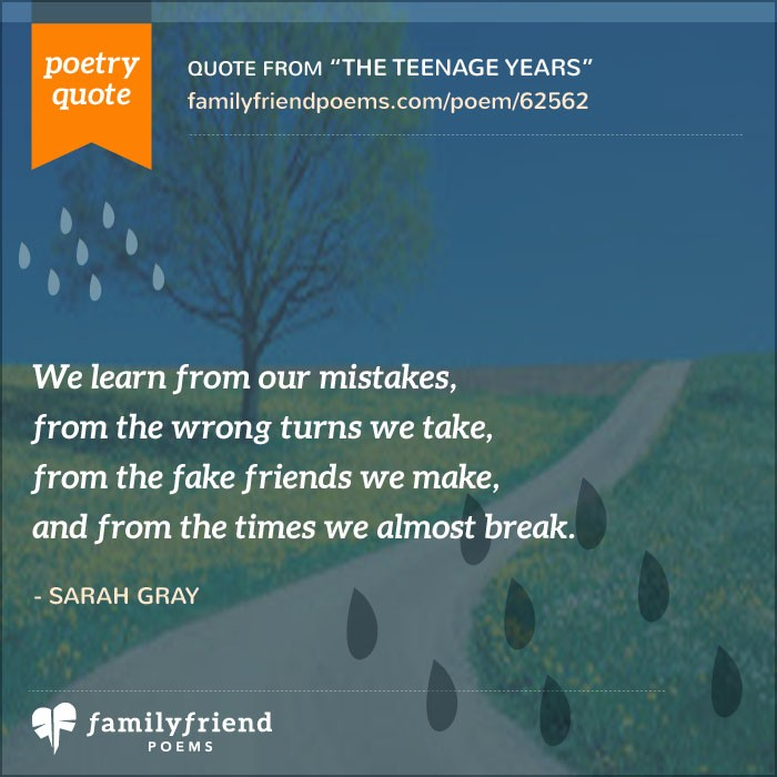 Teen Life Quotes Inspiration Poems About Life As A Teen