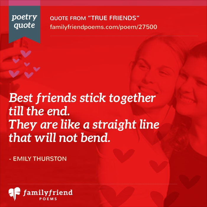 True Friends, Short Friendship Poem