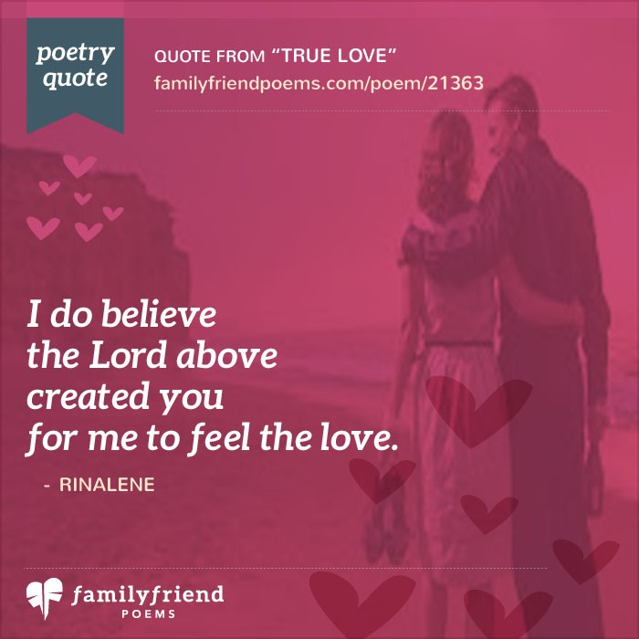 True Love, True Love Poem