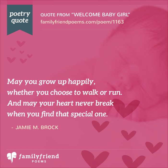 Baby Poems And Quotes: Welcome Baby Girl, Baby Poem