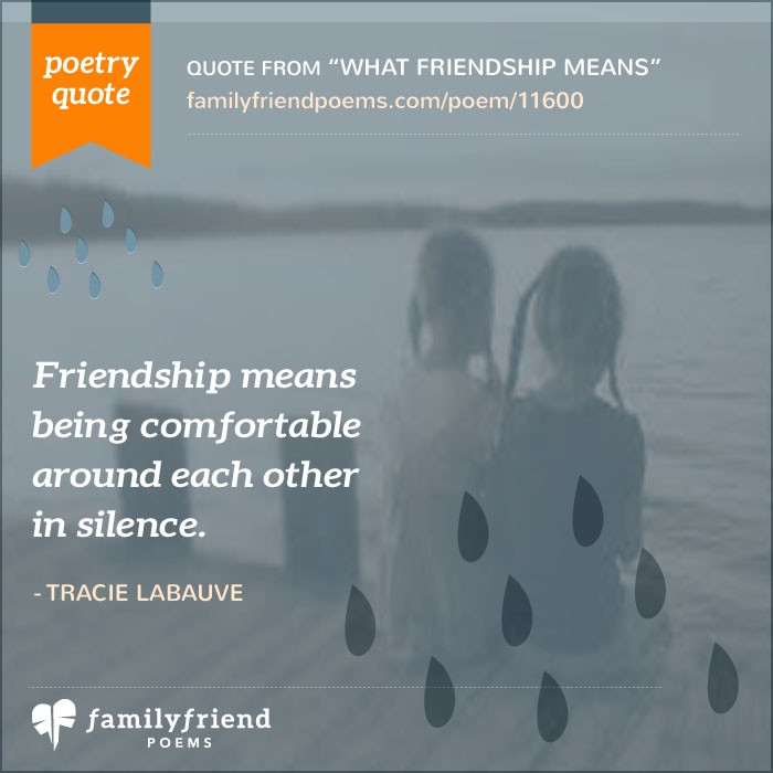 What Family Means To Me Quotes: What Friendship Means, True Friend Poem