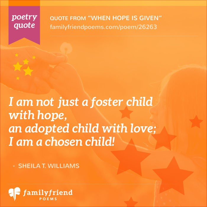 When Hope Is Given, Adoption Poem