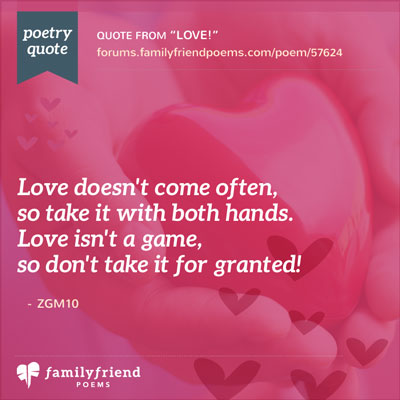 Don't Take Love For Granted