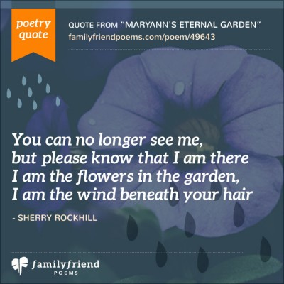 MaryAnn's Eternal Garden, Friend Funeral Poem