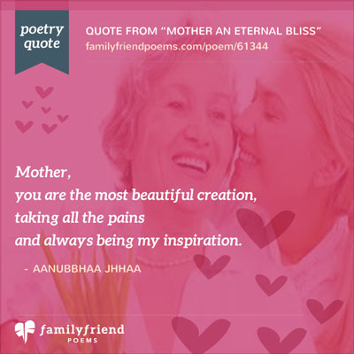 Tribute Poem To A Mother's Love, Mother An Eternal Bliss