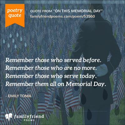 Short Memorial Day Poem, On This Memorial Day