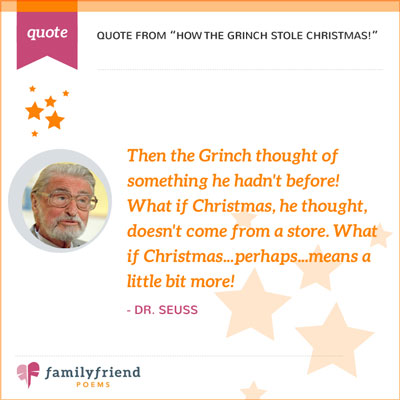 Quote From How The Grinch Stole Christmas! By Dr. Suess