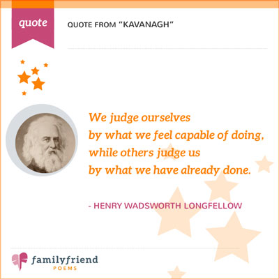 Quote From Kavanagh By Henry Wadsworth Longfellow