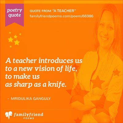 Quote Showing A Teacher Sharing New Things