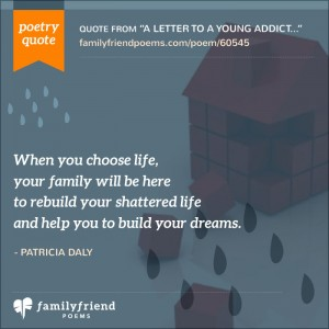 addiction poems about family