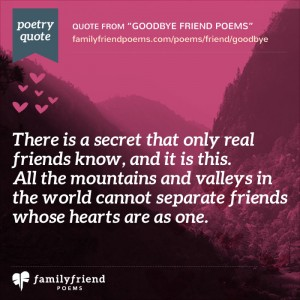 36 Goodbye Poems For Friends - Poems Saying Goodbye to Friends