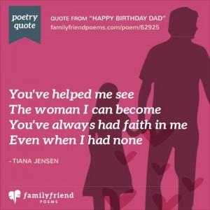 Poem Appreciating Father Happy Birthday Dad