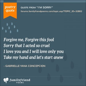 Teen love poems about forgiveness