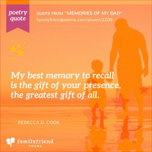 Poem About Dad Being a Hero, Memories Of My Dad
